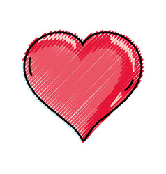 Grated heart love symbol icon romance vector
