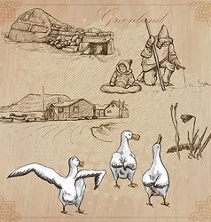 Greenland Travel around the World drawings vector