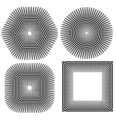 Halftone Pattern Set Dots vector image