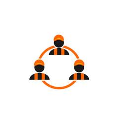healthy cartoon character logo vector image