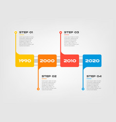 horizontal steps timeline infographics a rectangle vector image