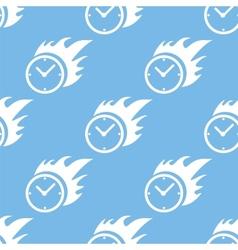 Hot clock seamless pattern vector image