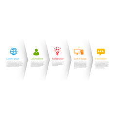 infographic style colored menu or arrows option vector image
