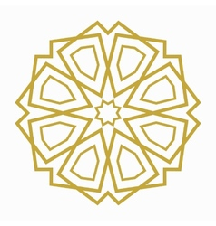 Islamic or arabic shape vector