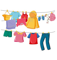 Isolated clothes on rack display vector