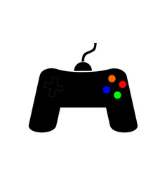 Joystick icon to play vector