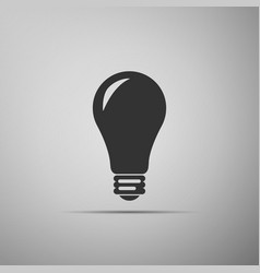 light bulb icon energy and idea lamp electric vector image