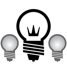 light bulb with crown set vector image