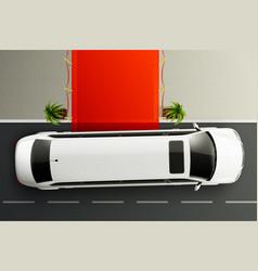 limousine red carpet composition vector image