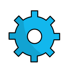 Line gear symbol process industry vector
