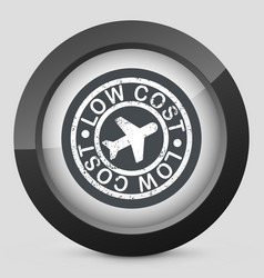 lowcost airline icon vector image