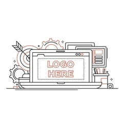Marketing - line design with vector image