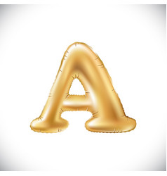 Metallic gold a balloons golden letter new year vector