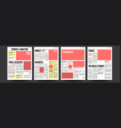 newspaper paper tabloid design daily vector image