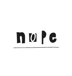Nope shirt quote lettering vector