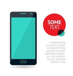 Page or banner design with mobile phone vector image