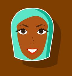 Paper sticker on theme arabic business portrait vector