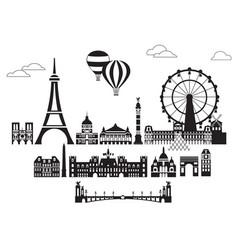Paris city skyline 6 vector