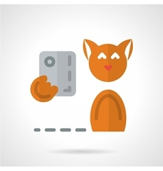 Pets selfie flat icon vector