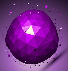 Purple geometric abstract 3D complicated lattice vector