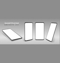 realistic smartphone mockup smartphones in vector image