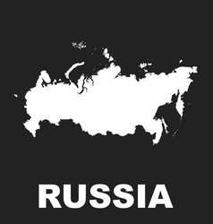 russia map icon flat russian federation sign vector image vector image