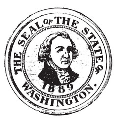 Seal of the state of washington 1904 vector
