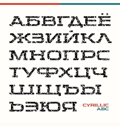 Serif font in the sport style vector
