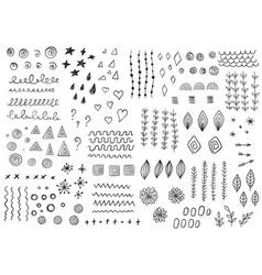 Set doodle design elements vector