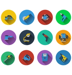 Set of electrical work tools icons vector