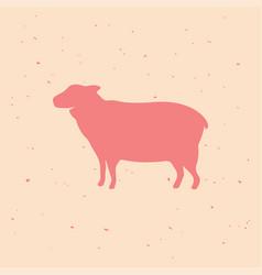 sheep vintage logo retro print poster vector image