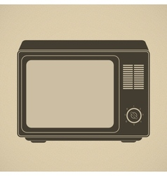 Silhouette of retro tv set vector