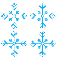 snowflakes thin line ftat design vector image