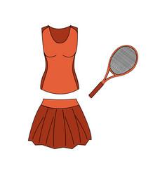 Special sport uniform vector
