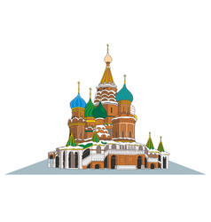 st basil s cathedral in moscow vector image