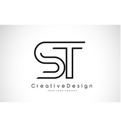St s t letter logo design in black colors vector