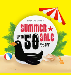 summer sell promotion banner background and vector image