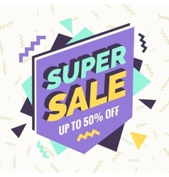 Super sale banner Retro edition vector