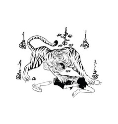 thai yantra thai traditional tattoo vector image