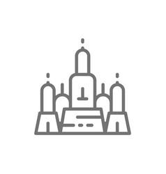 Towers wat arun temple dawn ayutthaya city vector