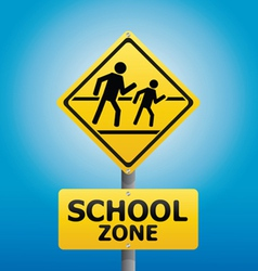 TRAFFIC Sign School warning vector image