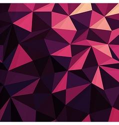 Triangular Low Poly Dark Pink Pattern vector image