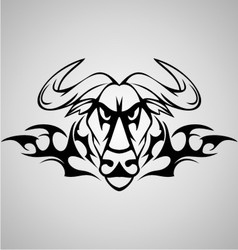 Tribal Buffalo vector image