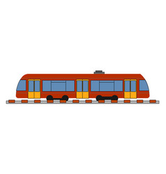 ujnderground train on white background vector image