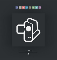 Videocamera icon vector