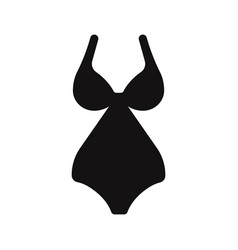 woman swimsuit icon vector image