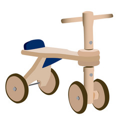Wood toy bicycle vector
