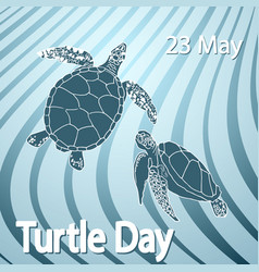 world turtle day concept vector image