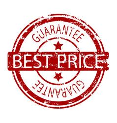 best price rubber stamp imprint vector image