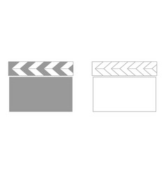 cinema clapper set icon vector image vector image